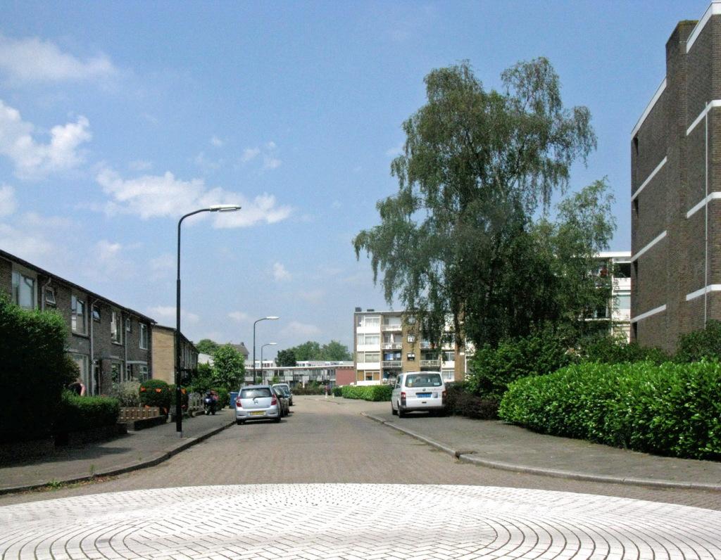 Rijtjeshuizen, lage flats en veel groen