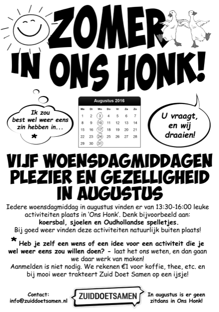 Zomer in ons honk